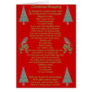 lustiger Weihnachtsgedichtrotkehlchen- und Grußkarte