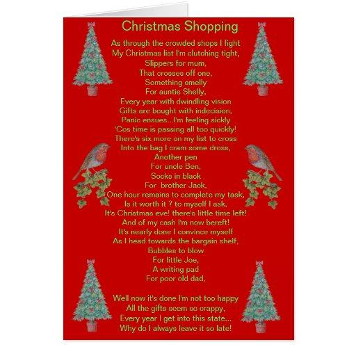 lustiger Weihnachtsgedichtrotkehlchen- und Karte