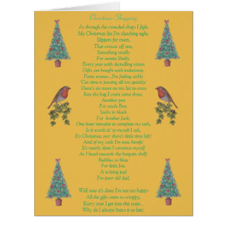 lustiger Weihnachtsgedichtrotkehlchen- und Karten