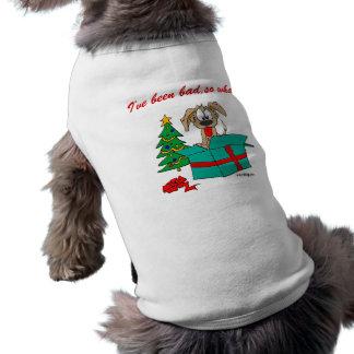 Lustiger Weihnachtshund bin ich, so was schlecht g Ärmelfreies Hunde-Shirt