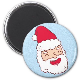Lustiger Weihnachtsmann, der weg seinen Kopf lacht Runder Magnet 5,7 Cm