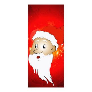 Lustiger Weihnachtsmann Personalisierte Ankündigung