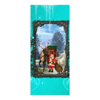 Lustiger Weihnachtsmann mit Ren und 10,2 X 23,5 Cm Einladungskarte