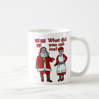 Lustiger Weihnachtsmann u. Frau Christmas Kaffeetasse