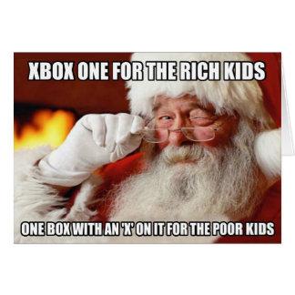 Lustiger Weihnachtsmann Xbox ein meme Grußkarte