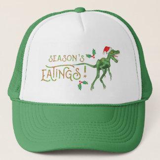 Lustiger Weihnachtsvelociraptor-Dinosaurier Truckerkappe