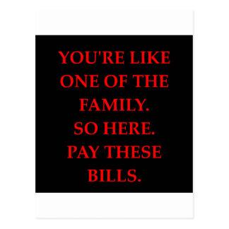 lustiger Witz für Sie Postkarte