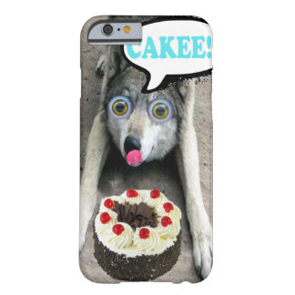 Lustiger Wolf, der einen Kuchen Iphone Fall Barely There iPhone 6 Hülle