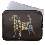 Lustiger Wort-Wolken-Hund sitzen Aufenthalt-Reichw Computer Schutzhüllen