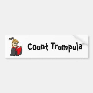 Lustiger Zählung Trumpula Trumpf-Cartoon Autoaufkleber