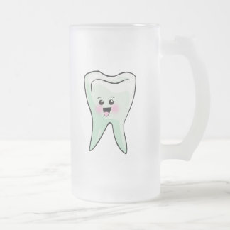 Lustiger Zahnarzt-Zahnarzthelfer Mattglas Bierglas