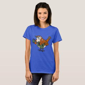 Lustiger Zaunkönig, der Gitarren-Shirt-Vorlage T-Shirt