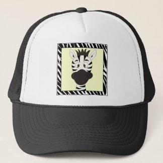 Lustiger Zebra-Cartoon Truckerkappe