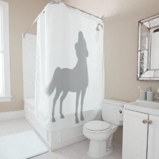 Lustiger Zentaur-Silhouette-Schatten hinten Duschvorhang
