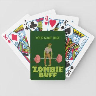 Lustiger Zombie-Büffelleder-Gewichts-Heber Bicycle Spielkarten