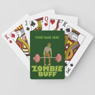 Lustiger Zombie-Büffelleder-Gewichts-Heber Spielkarten