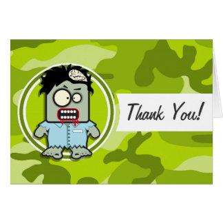 Lustiger Zombie; hellgrüne Camouflage, Tarnung Grußkarte