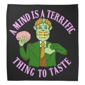 Lustiger Zombie-Professor Proverb Kopftuch