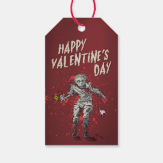 Lustiger Zombie-Valentinstag Geschenkanhänger