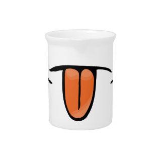 Lustiger Zunge-Entwurf Getränke Pitcher