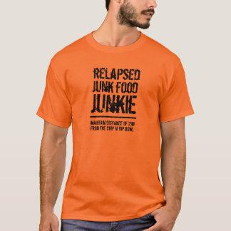 Lustiger zurückgefallener Fertigkost-Junkie T-Shirt