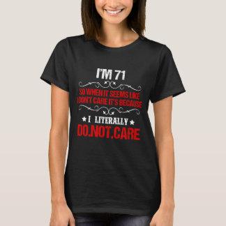 Lustiges 71. Geburtstags-Kostüm für 71 Jahre alt T-Shirt