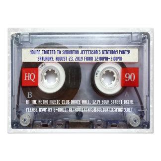Lustiges 80er Kassette Mixtape Party 11,4 X 15,9 Cm Einladungskarte