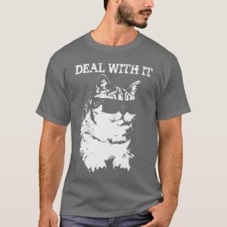 Lustiges Abkommen mit ihm tragender Sonnenbrille-T T-Shirt