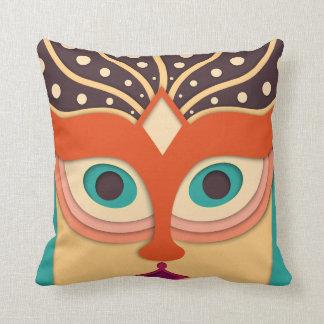 Lustiges abstraktes Kunst-Gesicht Kissen