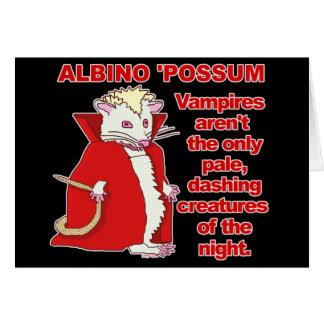 Lustiges Albino-Opossum-Vampirs-Tier Karte