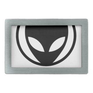 Lustiges alien kommen wir in Frieden Rechteckige Gürtelschnalle