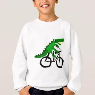 Lustiges Alligatorreitfahrrad Sweatshirt