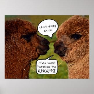 Lustiges Alpaka Alpacalypse Entwerfen Poster