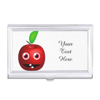 Lustiges Apple für Lehrer Visitenkarten Etui