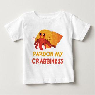 Lustiges Baby-Cartoon-Einsiedler-Krabben-T-Stück Baby T-shirt