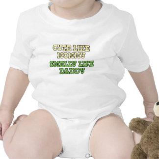 Lustiges Baby-Shirt: Niedlich wie die Mama, Smelly