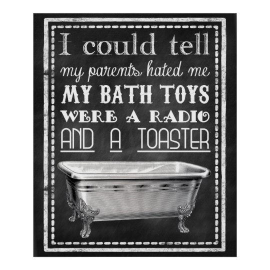 Lustiges Badezimmer Poster Zazzle