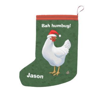 Lustiges Bah Humbug-Huhn in der Kleiner Weihnachtsstrumpf