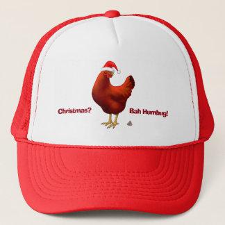 Lustiges Bah Humbug-Huhn in der Truckerkappe