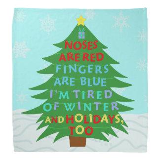 Lustiges Bah Humbug-Weihnachtsgedicht Kopftuch