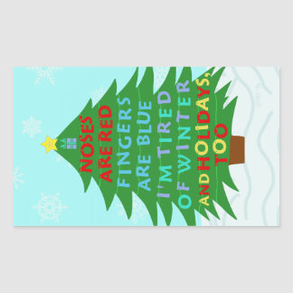 Lustiges Bah Humbug-Weihnachtsgedicht Rechteckiger Aufkleber