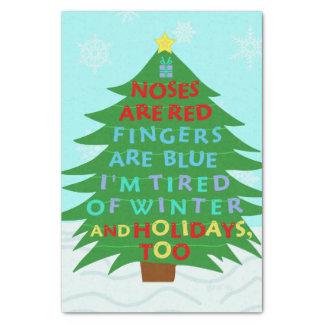 Lustiges Bah Humbug-Weihnachtsgedicht Seidenpapier