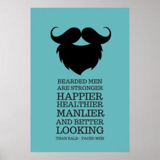 Lustiges bärtiges Mann-Zitat Poster