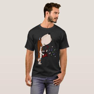 Lustiges Basset Hound, das Saxophon-Kunst spielt T-Shirt