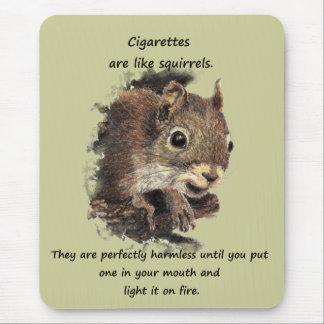 Lustiges beendigtes rauchendes motivierend Zitat Mauspad