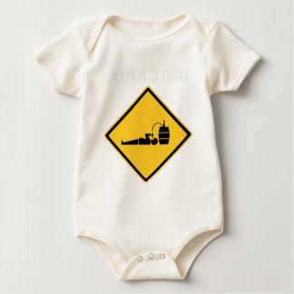 Lustiges betrunkenes baby strampler