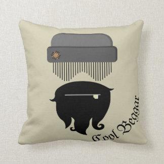 Lustiges Bettler-Grafikdesign Kissen