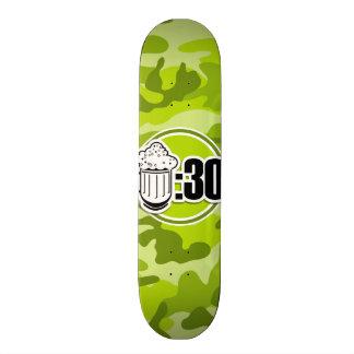 Lustiges Bier: 30, hellgrüne Camouflage, Tarnung 18,1 Cm Old School Skateboard Deck