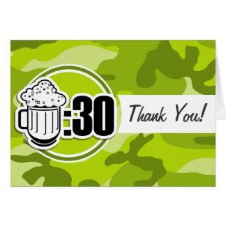 Lustiges Bier: 30, hellgrüne Camouflage, Tarnung Grußkarten