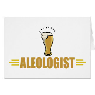 Lustiges Bier Mitteilungskarte